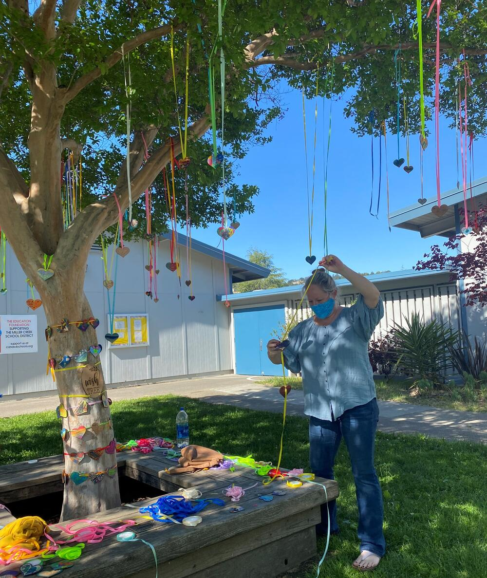 laura with wish tree